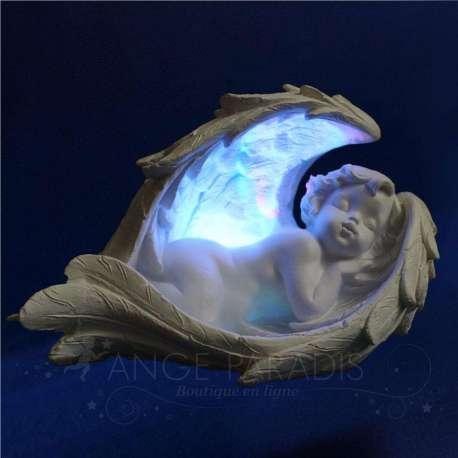 Figura Angel con luz de colores IZQUIERDA