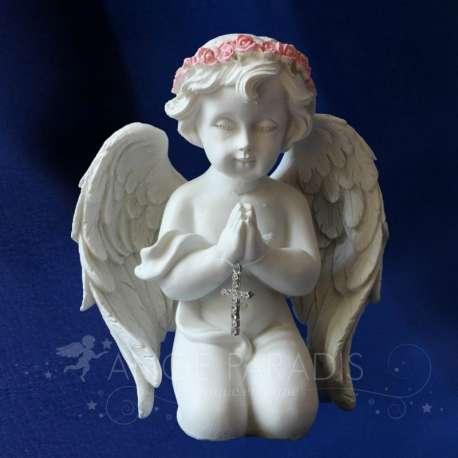 Estatua del ángel CRUZ Y ROSAS ORACIÓN