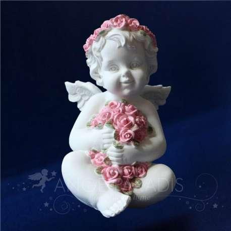 Estatua Angel Rosa