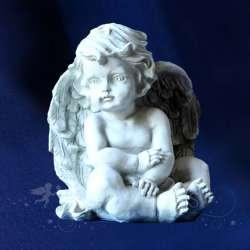 Estatua ángel que se Relaja
