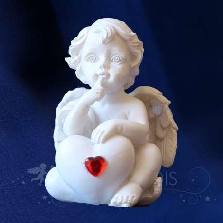 Estatuilla del ángel del Corazón Pensativa