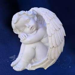 Estatua ángel Guardián de 17cm Ojos Abiertos
