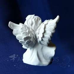Figura de ángel Contemplativo con una Cruz