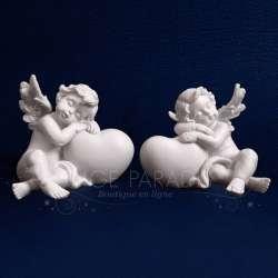 Las figuras 2 ángel de la guarda CORAZÓN
