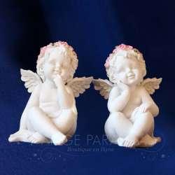2 Estatuillas de ángeles Alegría Sonriente