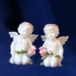 2 Figurillas ángel Querubin Amor