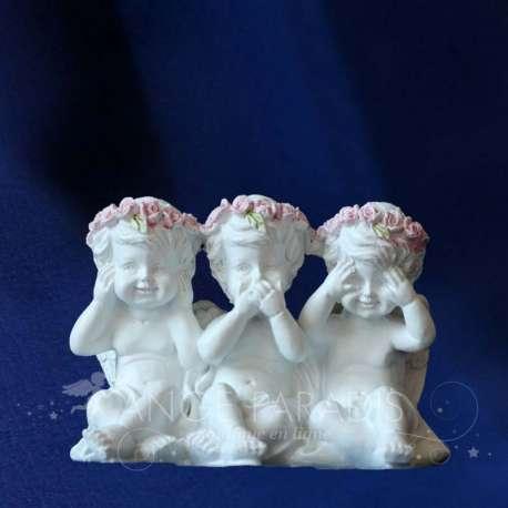 Figurita Querubines Rosa Sabidura