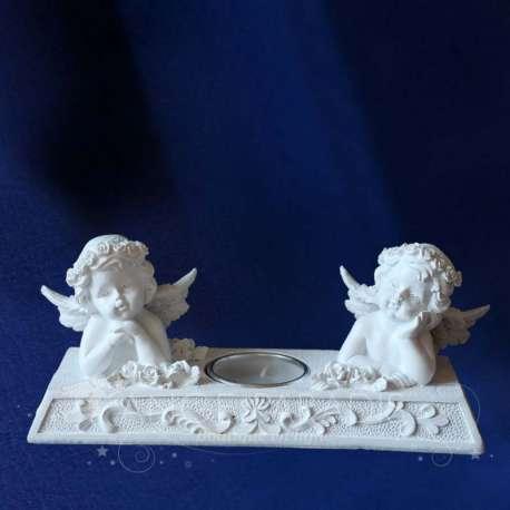 2 ángeles Querubines Velas