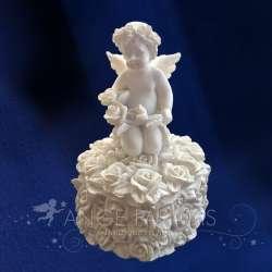 Caja ángel con Rosas