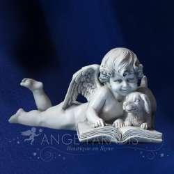 ESTATUILLA DE ANGEL CON UN PERRO