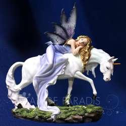 "Estatua Hada Unicorno ""Cuento de Hadas"" 34CM"